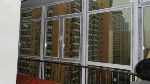 大兴兴政家园断桥铝门窗封阳台