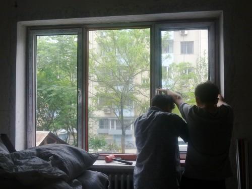 彩色塑钢门窗封阳台