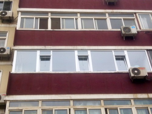 实拍海淀区复兴路24号院塑钢封阳台