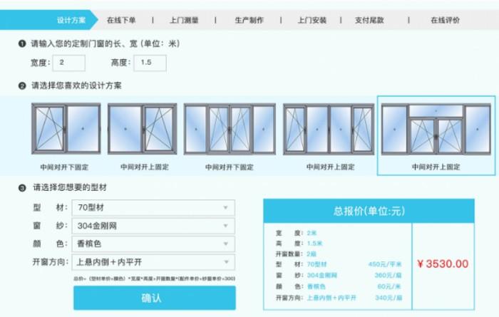 看互联网断桥铝门窗价格对比