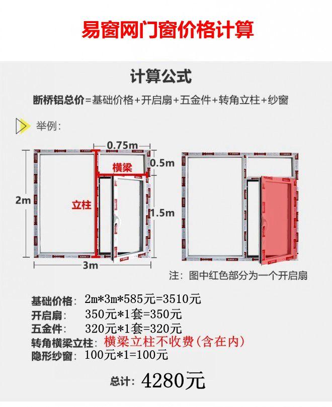 对比同样的门窗易窗网更便宜!